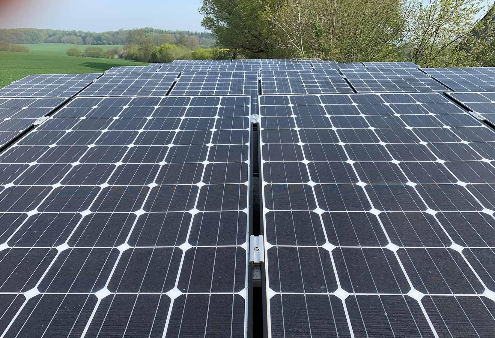 Erneuerbare energien solarzellen wald hamburg