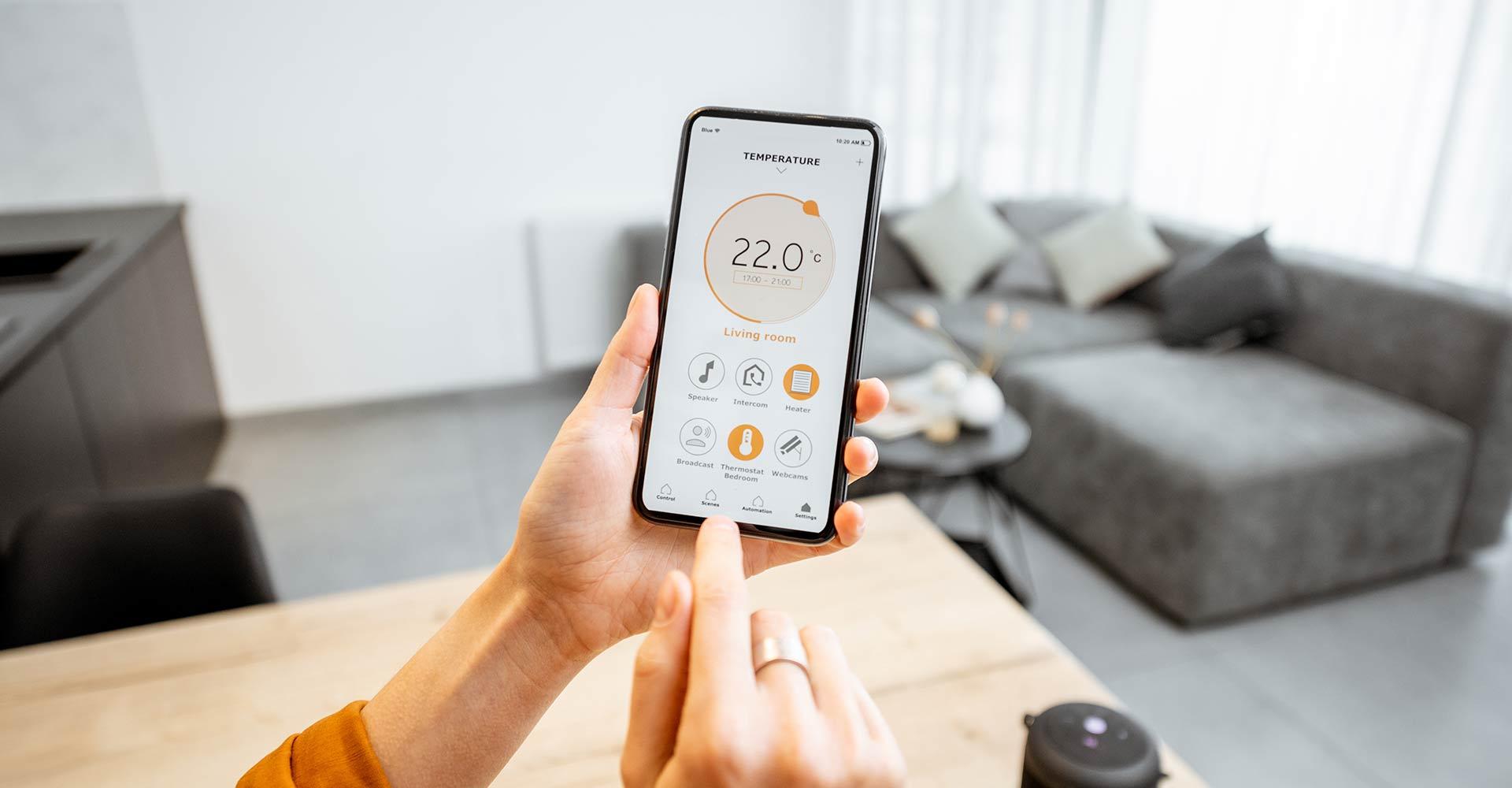 Smart home smartphone hamburg